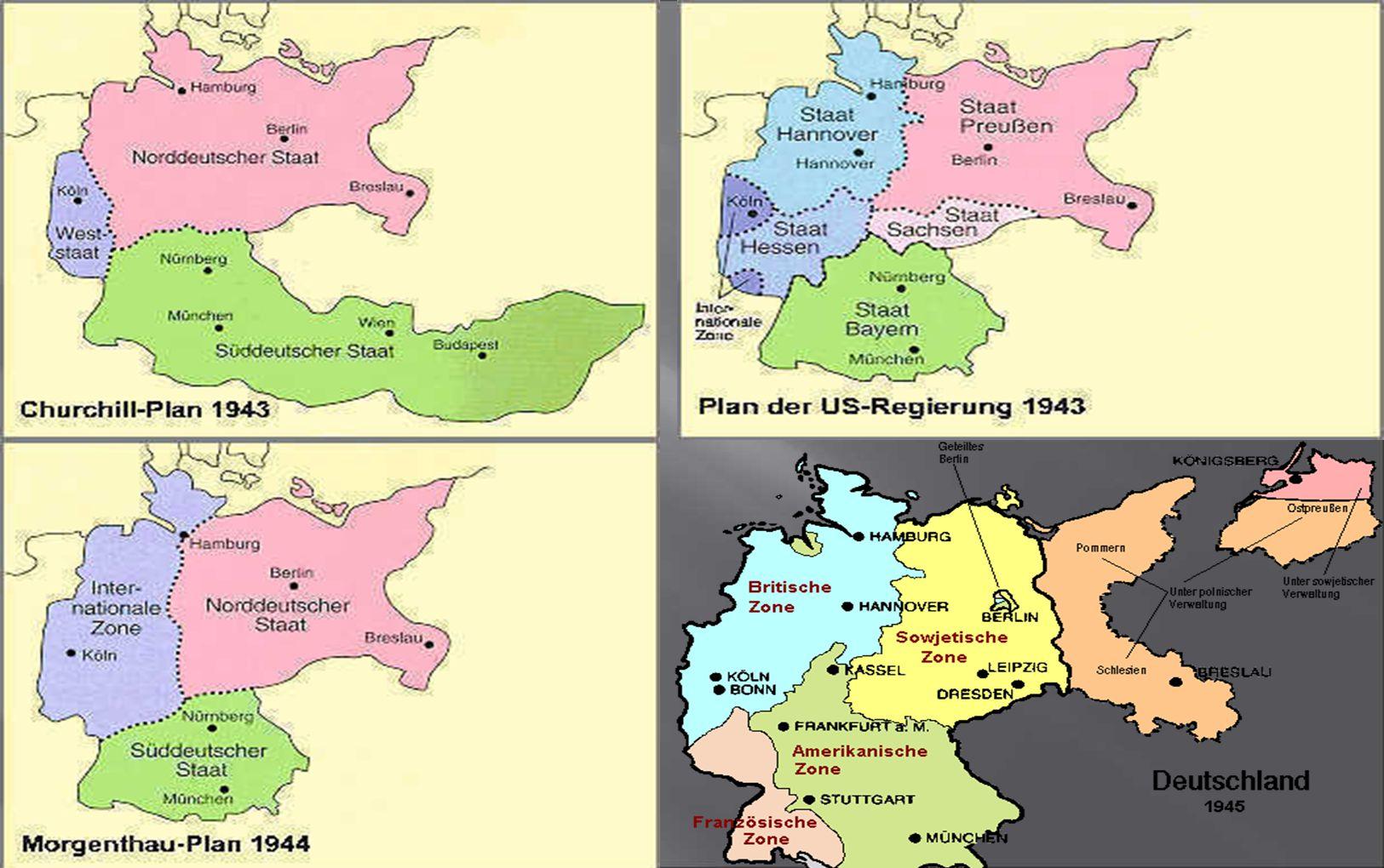 Teilungspläne der Alliierten 1943 bis 1945