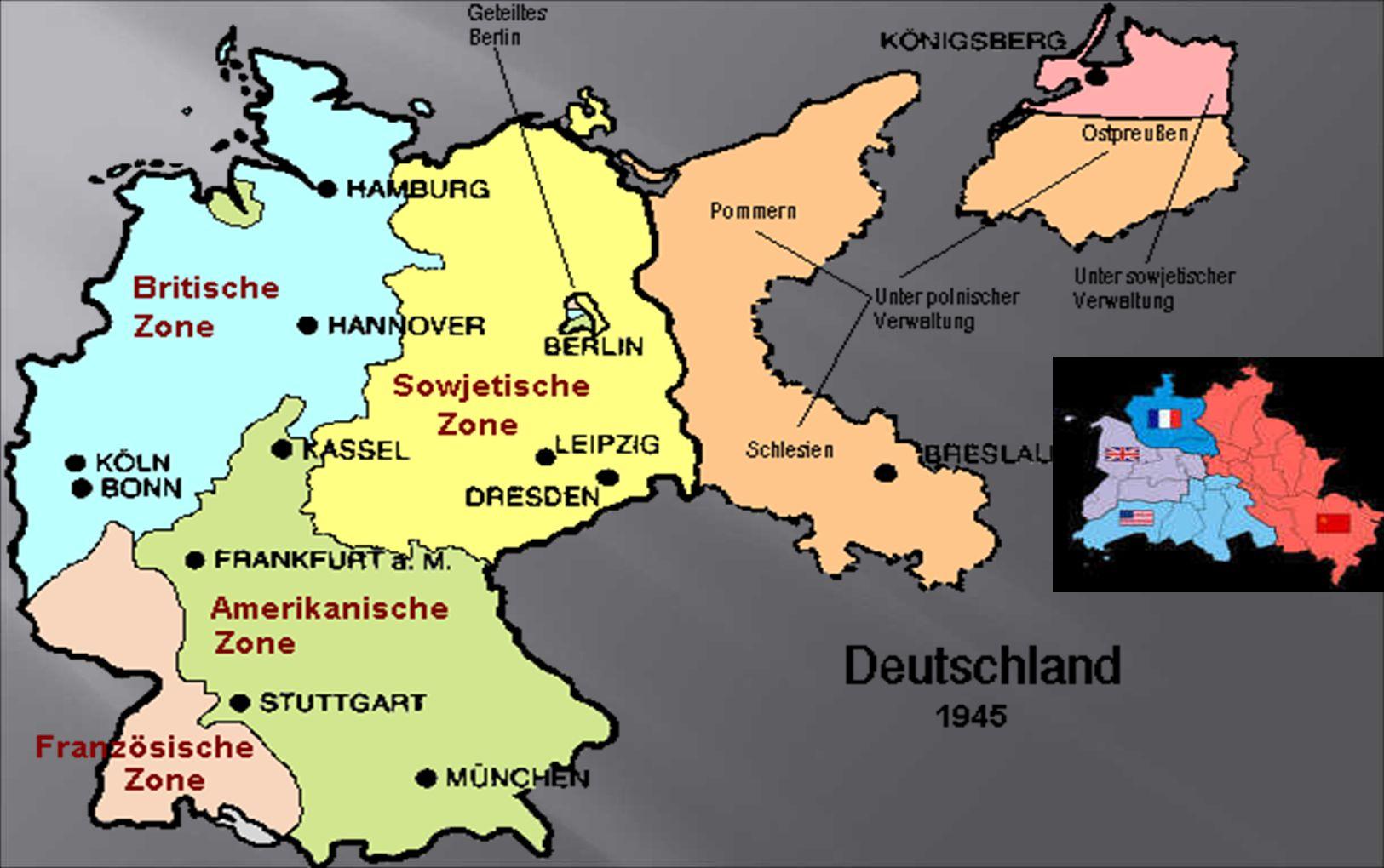 Endgültiger Plan der Alliierten: Deutschland am Ende des 2. Weltkriegs