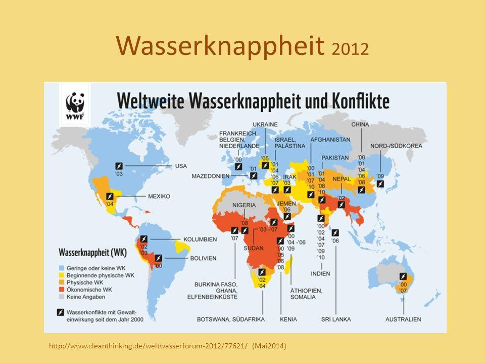Wasserknappheit 2012 http://www.cleanthinking.de/weltwasserforum-2012/77621/ (Mai2014)