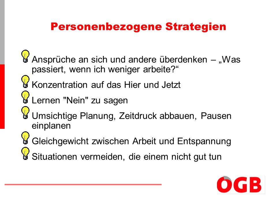 Personenbezogene Strategien