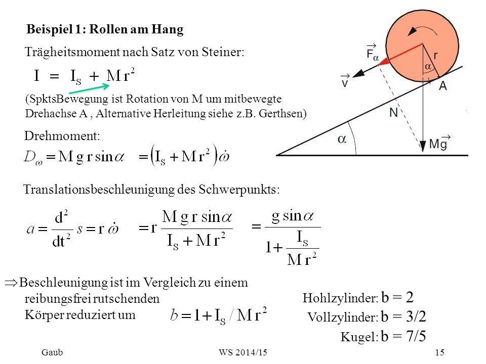 => Trägheitsmoment und Rotationsenergie