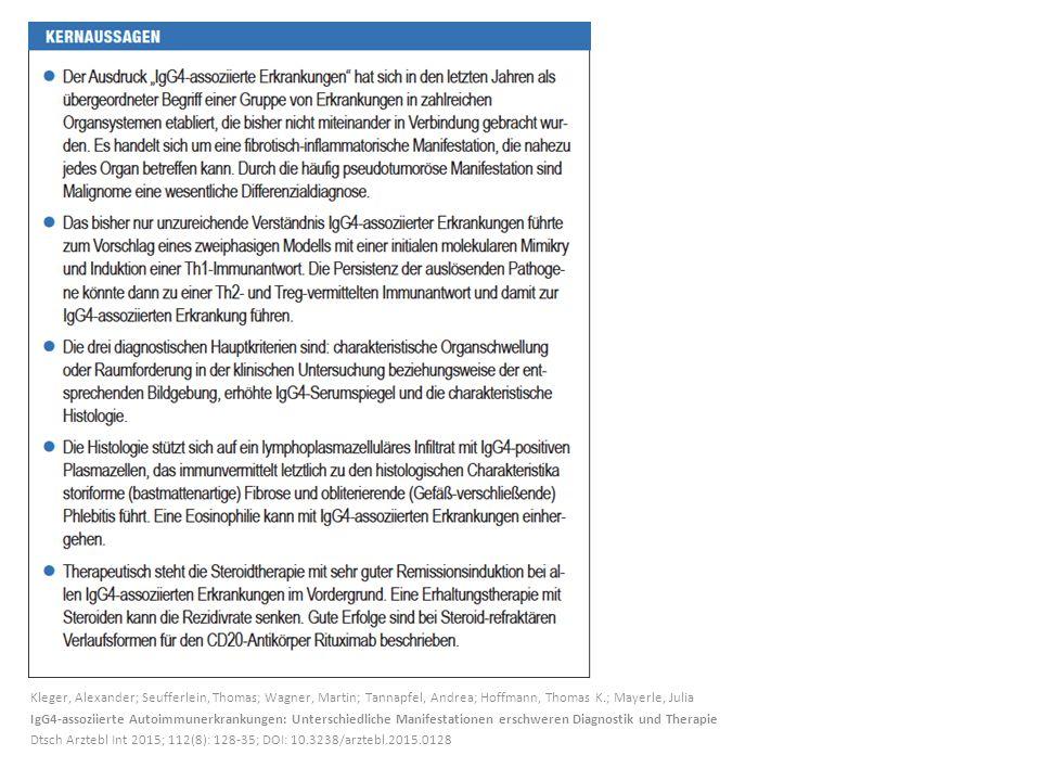 Kleger, Alexander; Seufferlein, Thomas; Wagner, Martin; Tannapfel, Andrea; Hoffmann, Thomas K.; Mayerle, Julia