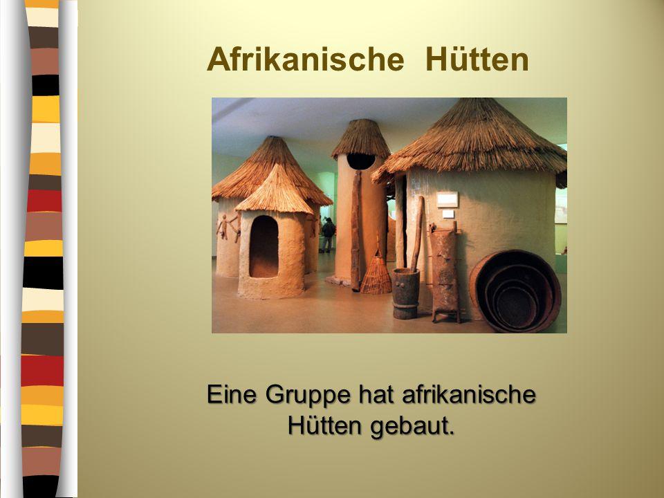 Eine Gruppe hat afrikanische