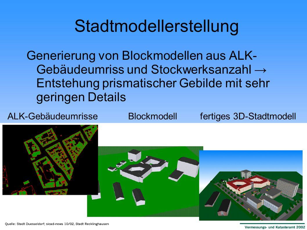 Stadtmodellerstellung