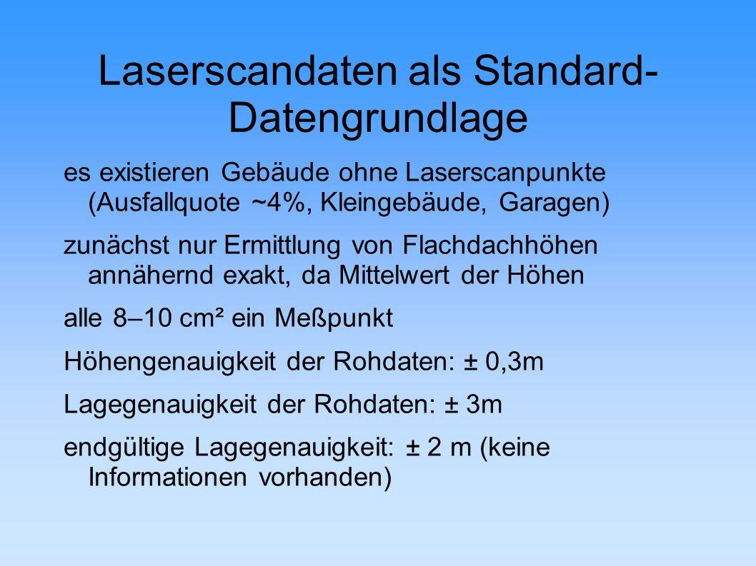 Laserscandaten als Standard-Datengrundlage