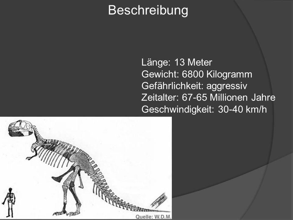 Beschreibung Länge: 13 Meter Gewicht: 6800 Kilogramm
