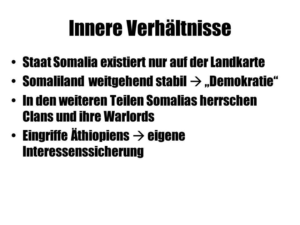 Innere Verhältnisse Staat Somalia existiert nur auf der Landkarte