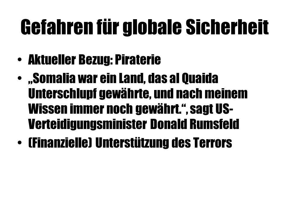 Gefahren für globale Sicherheit
