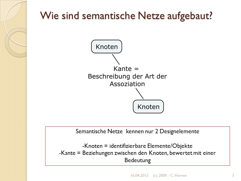 Wie sind semantische Netze aufgebaut