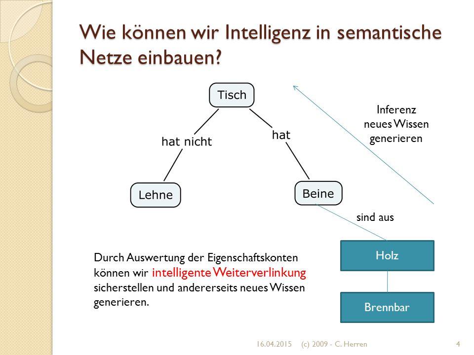 Wie können wir Intelligenz in semantische Netze einbauen