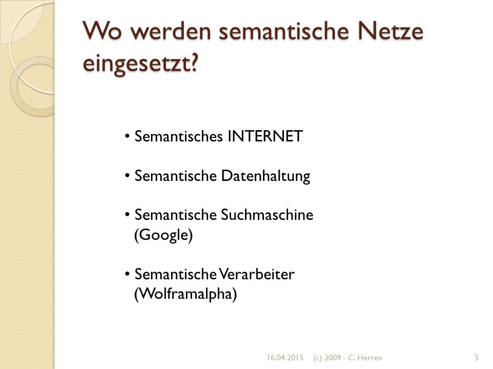 Wo werden semantische Netze eingesetzt
