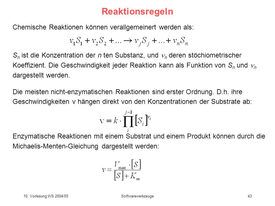 Reaktionsregeln Chemische Reaktionen können verallgemeinert werden als: