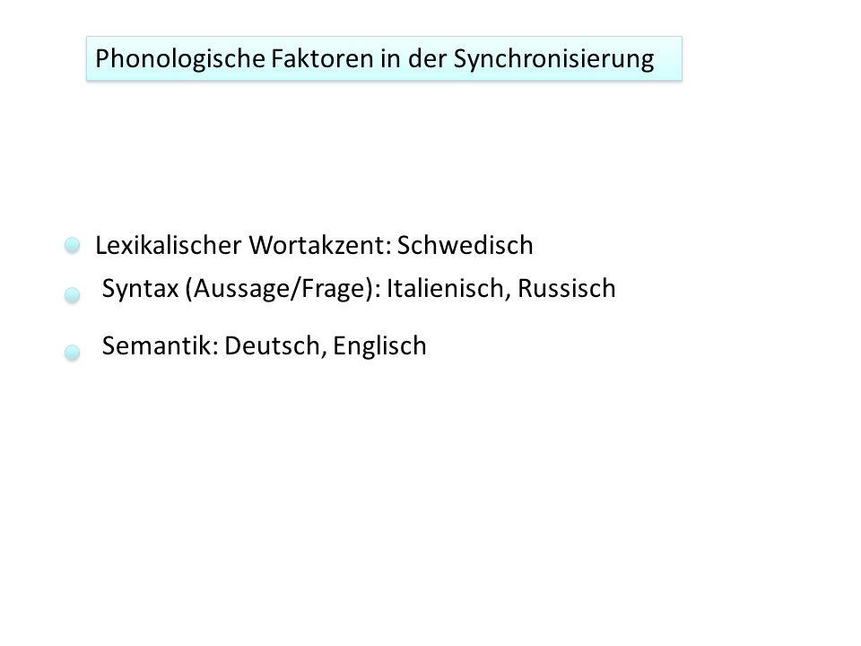 Phonologische Faktoren in der Synchronisierung