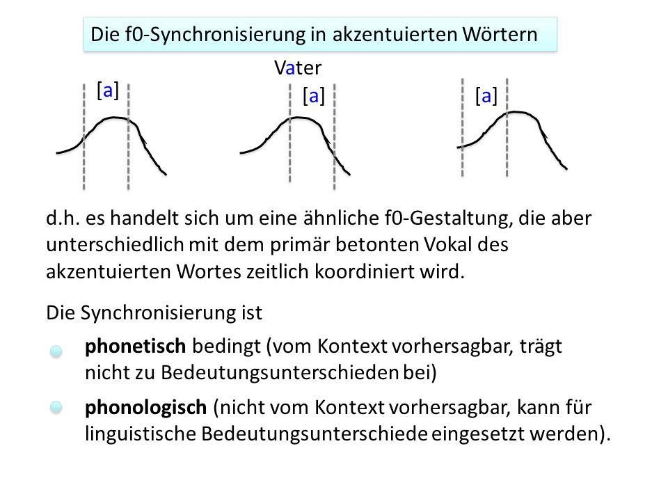 Die f0-Synchronisierung in akzentuierten Wörtern
