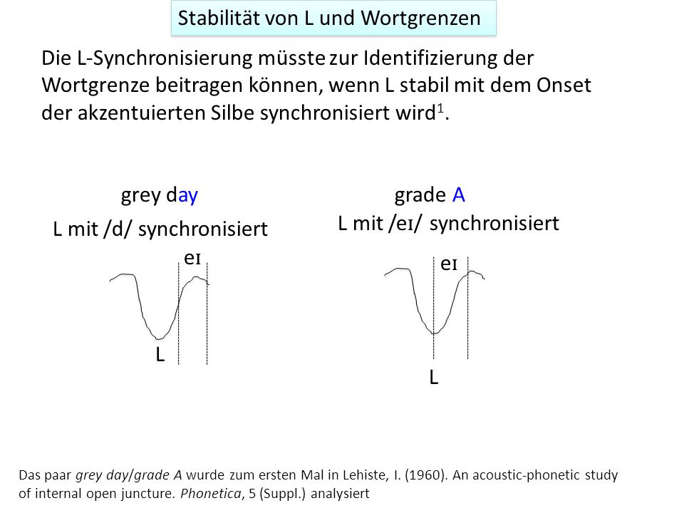 Stabilität von L und Wortgrenzen