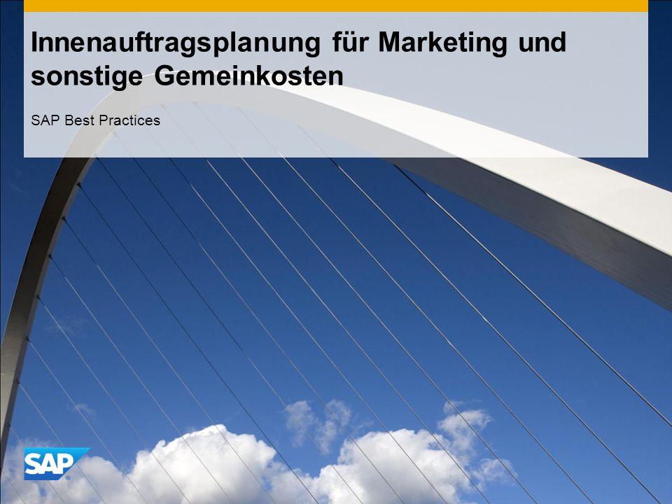 Innenauftragsplanung für Marketing und sonstige Gemeinkosten