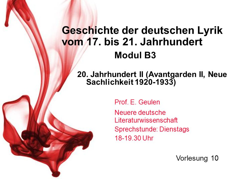 Geschichte Der Deutschen Lyrik Vom 17 Bis 21 Jahrhundert
