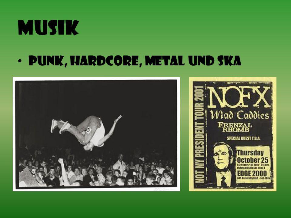 Musik Punk, Hardcore, Metal und Ska