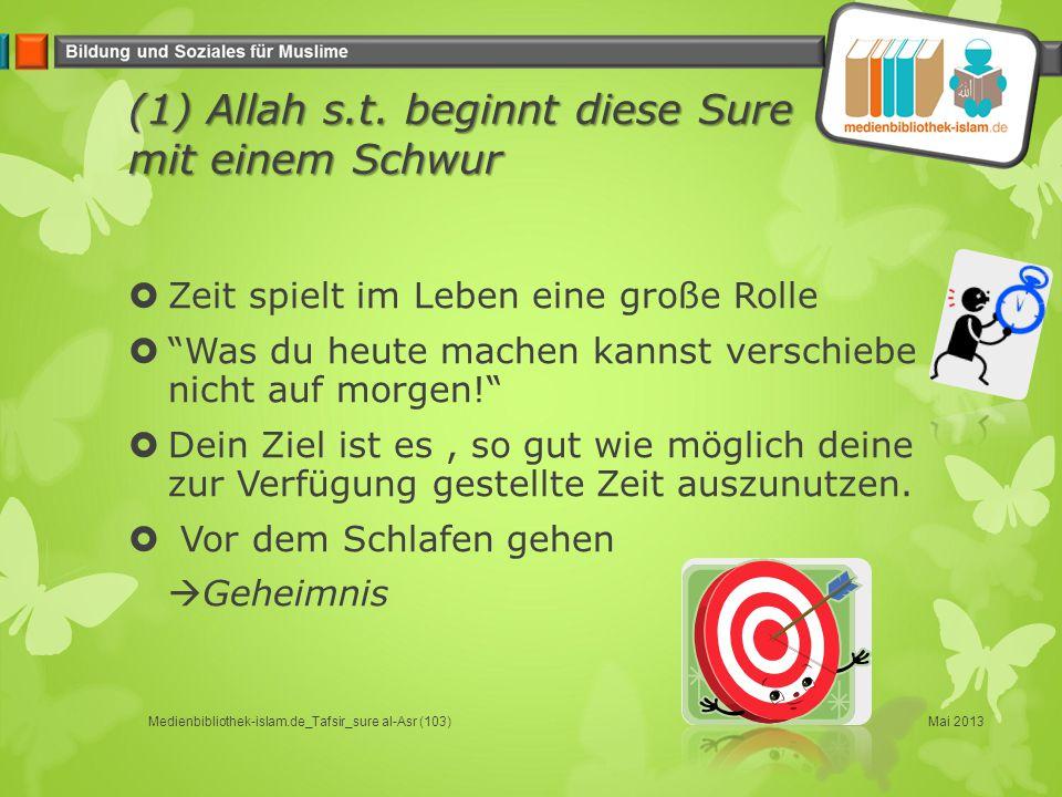 (1) Allah s.t. beginnt diese Sure mit einem Schwur
