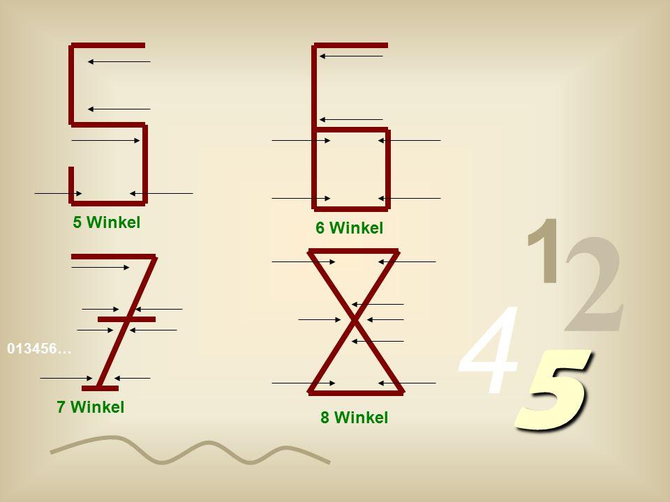 1 2 5 Winkel 6 Winkel 4 5 013456… 7 Winkel 8 Winkel