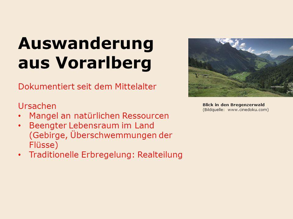 Auswanderung aus Vorarlberg