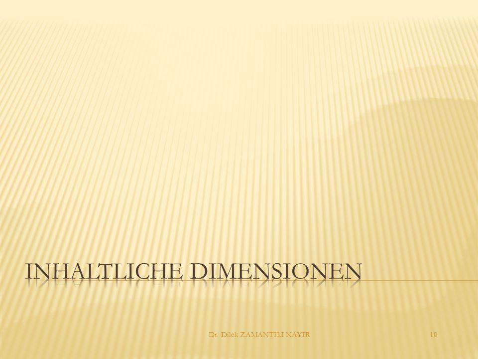 Inhaltliche Dimensionen