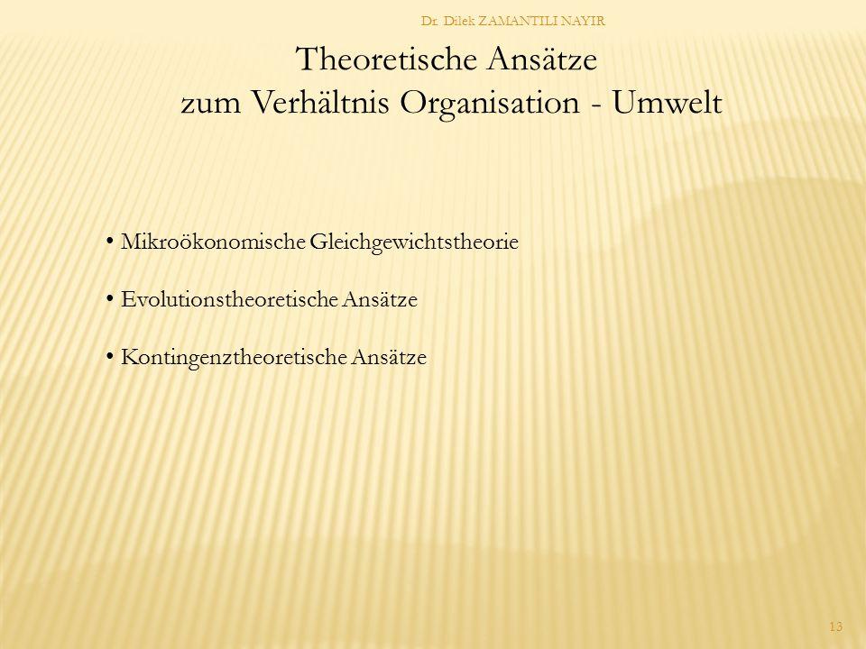 zum Verhältnis Organisation - Umwelt