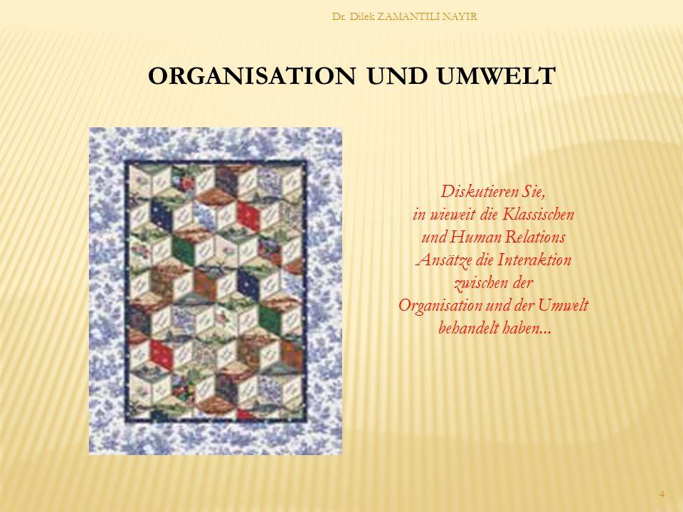 ORGANISATION UND UMWELT