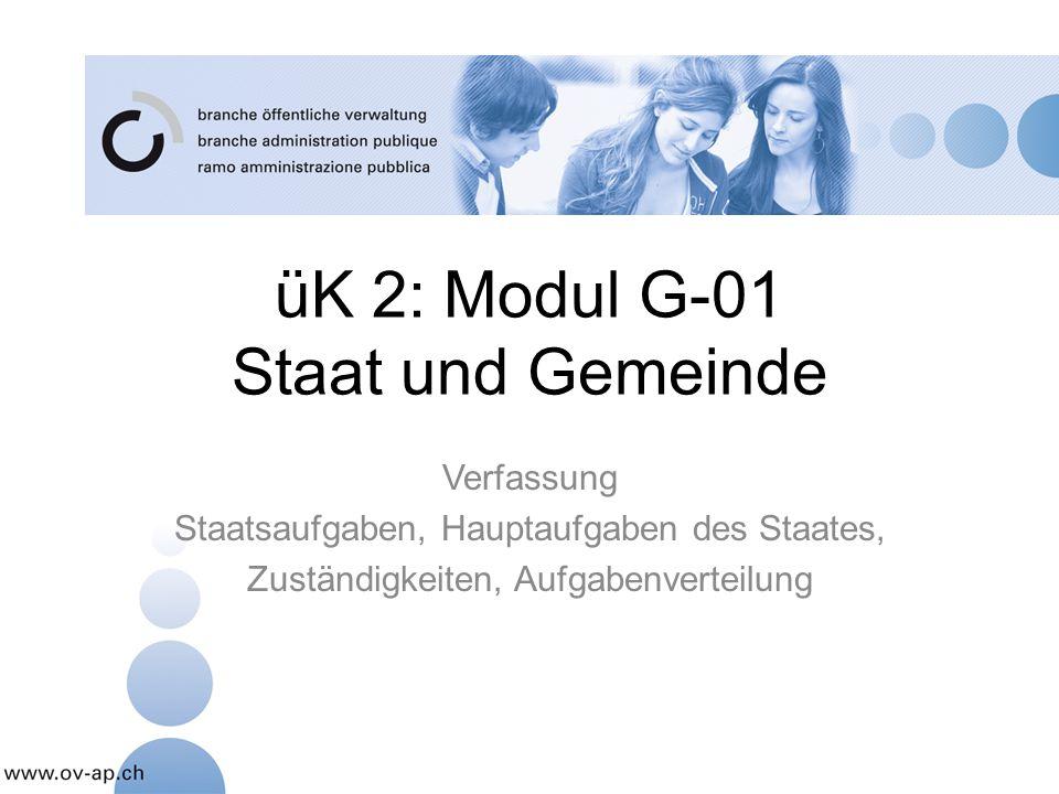 üK 2: Modul G-01 Staat und Gemeinde