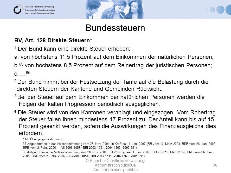 Bundessteuern BV, Art. 128 Direkte Steuern*