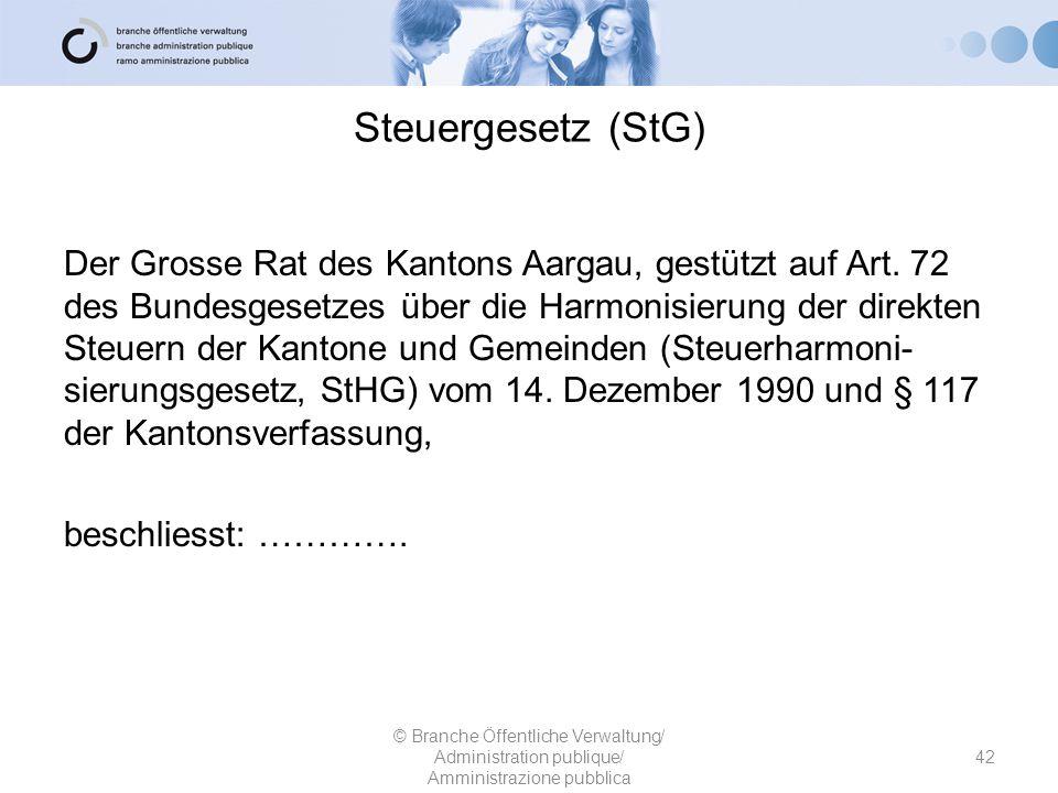 Steuergesetz (StG)