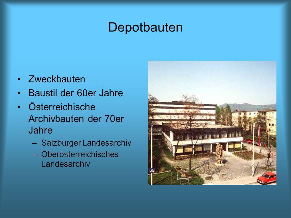 Depotbauten Zweckbauten Baustil der 60er Jahre