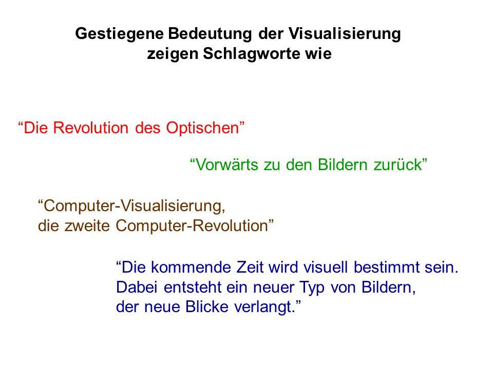 Gestiegene Bedeutung der Visualisierung zeigen Schlagworte wie