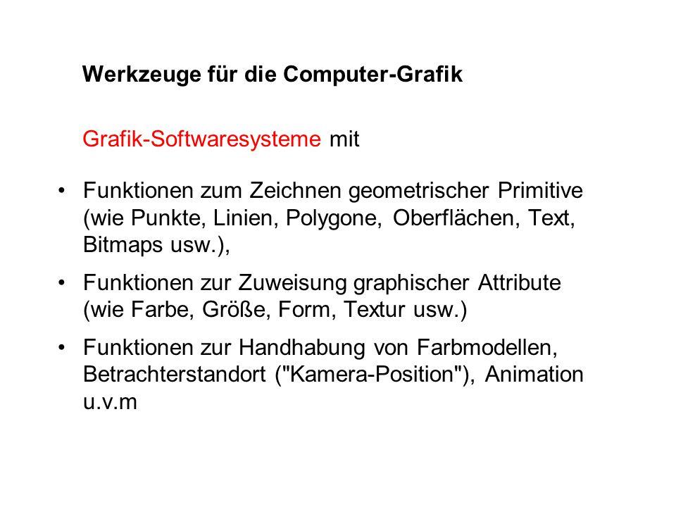 Werkzeuge für die Computer-Grafik