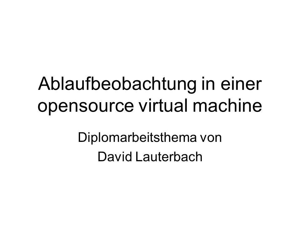 Ablaufbeobachtung in einer opensource virtual machine