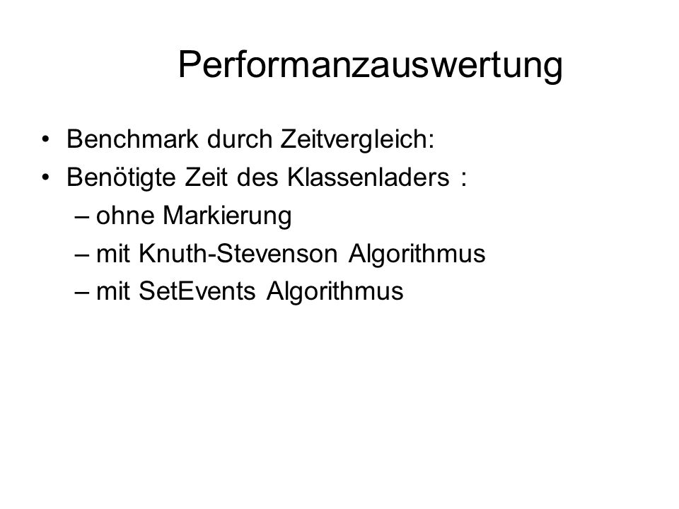 Performanzauswertung