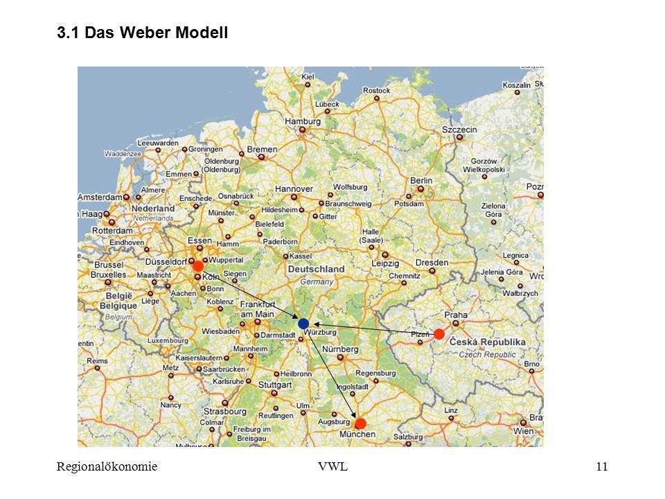 3.1 Das Weber Modell Regionalökonomie VWL