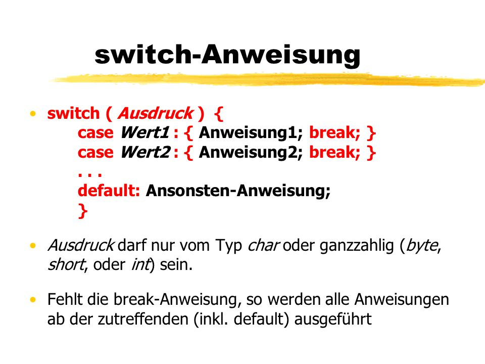 switch-Anweisung