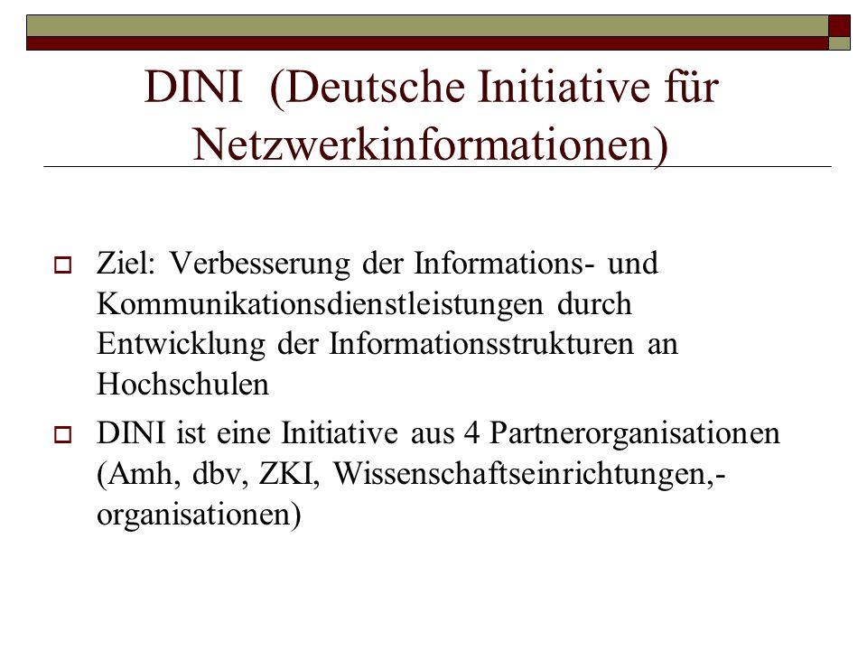 DINI (Deutsche Initiative für Netzwerkinformationen)