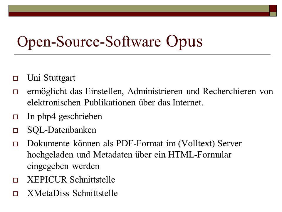 Open-Source-Software Opus