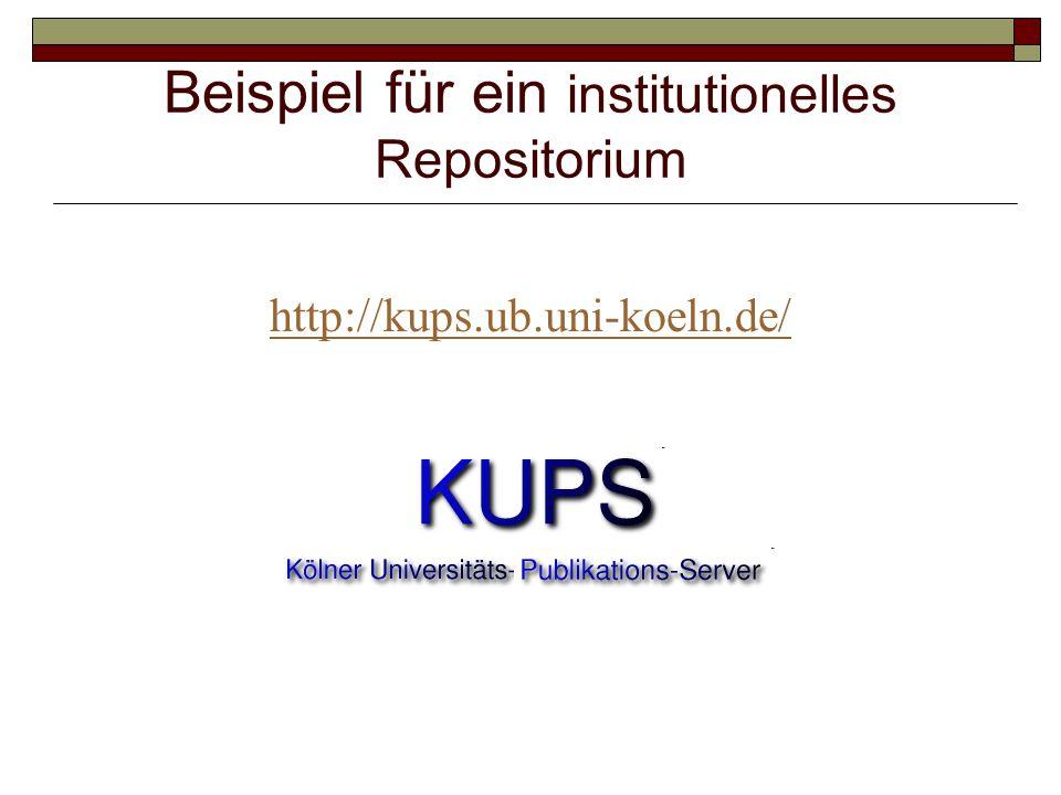 Beispiel für ein institutionelles Repositorium