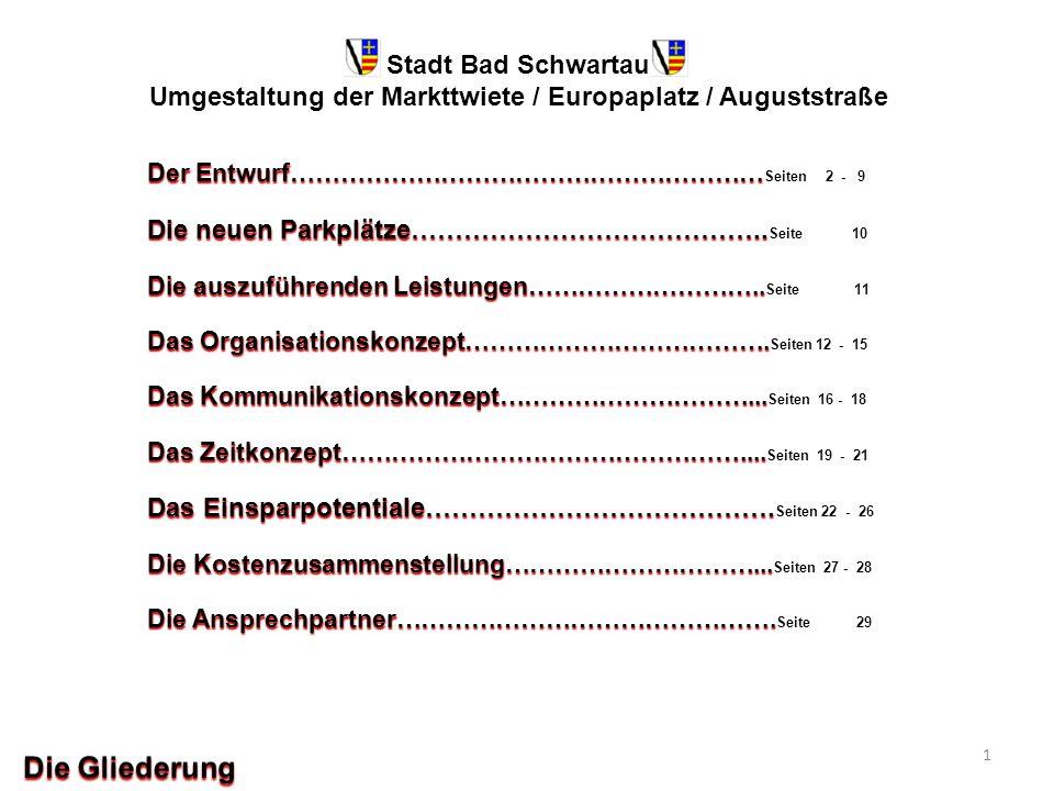 Stadt Bad Schwartau Umgestaltung der Markttwiete / Europaplatz / Auguststraße