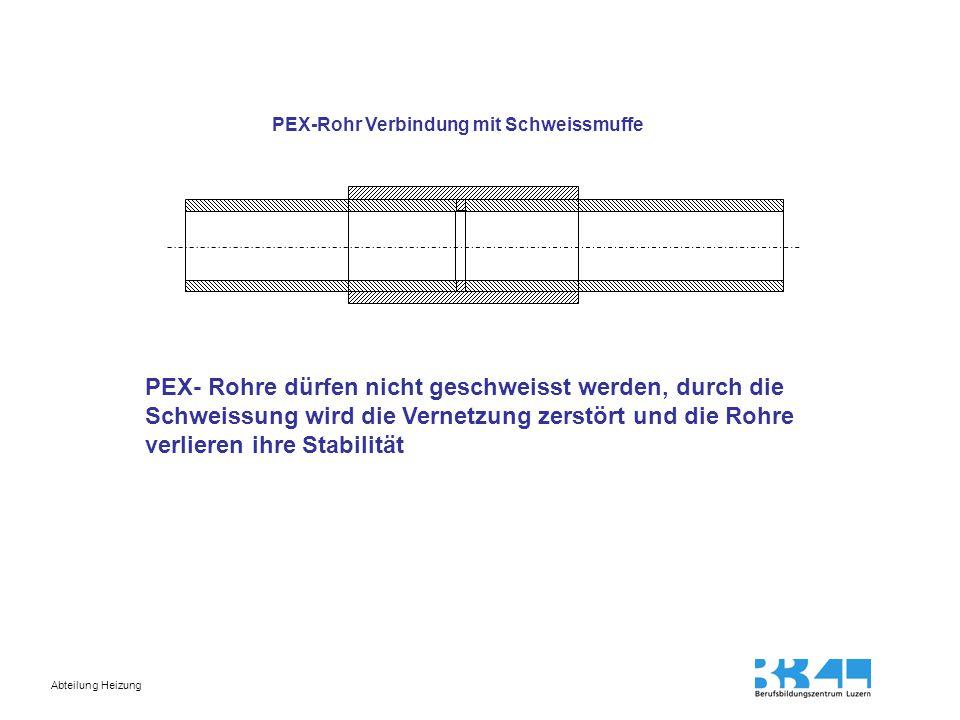 PEX-Rohr Verbindung mit Schweissmuffe