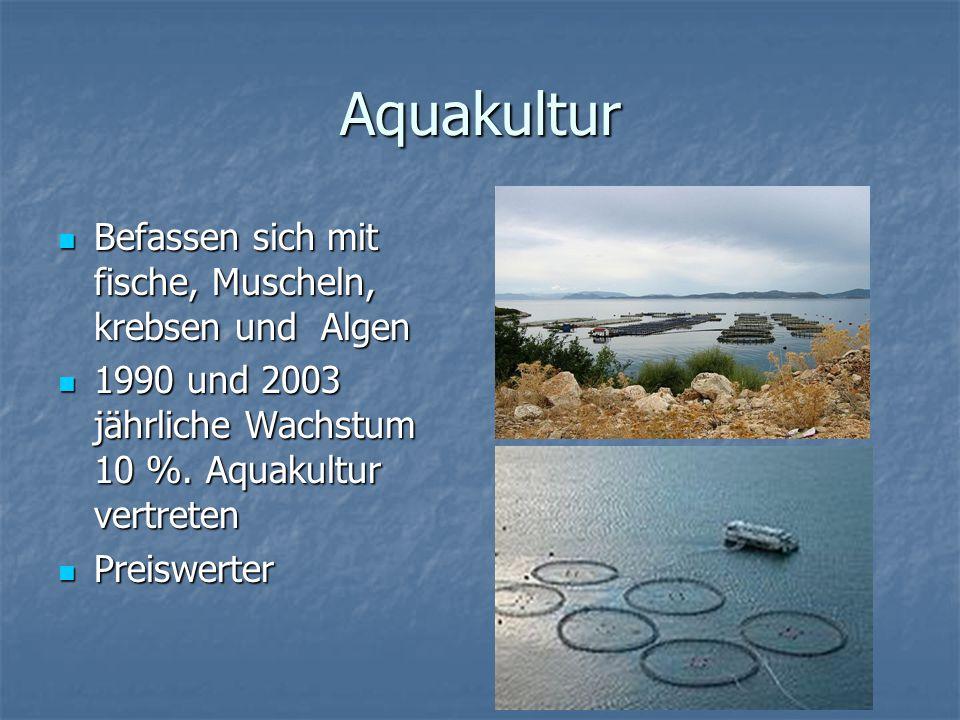 Aquakultur Befassen sich mit fische, Muscheln, krebsen und Algen