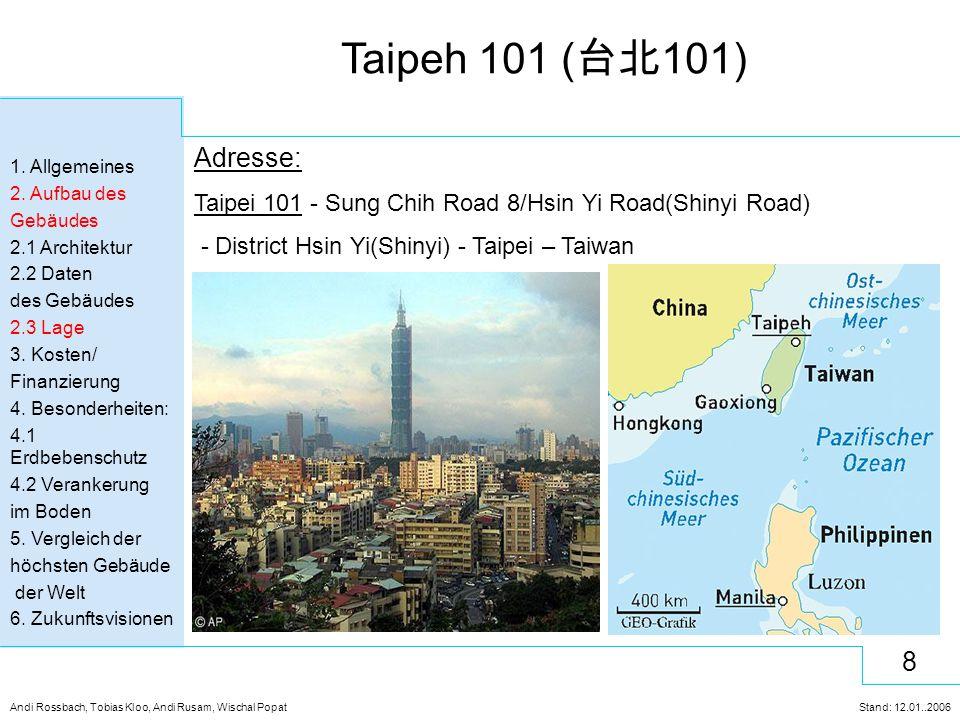 Adresse: Taipei 101 - Sung Chih Road 8/Hsin Yi Road(Shinyi Road)