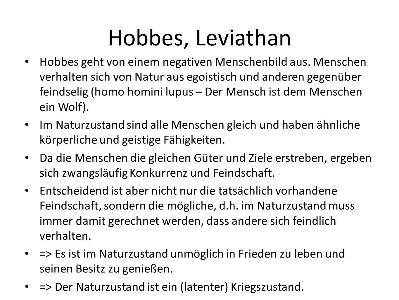 Hobbes, Leviathan