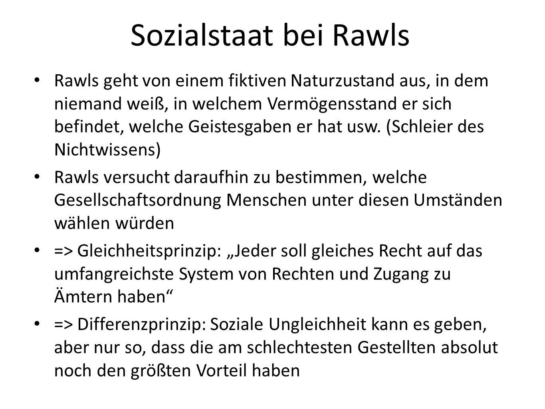 Sozialstaat bei Rawls
