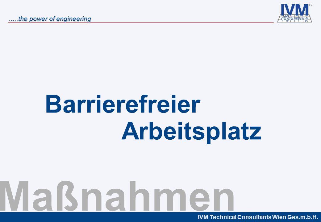 Barrierefreier Arbeitsplatz Maßnahmen