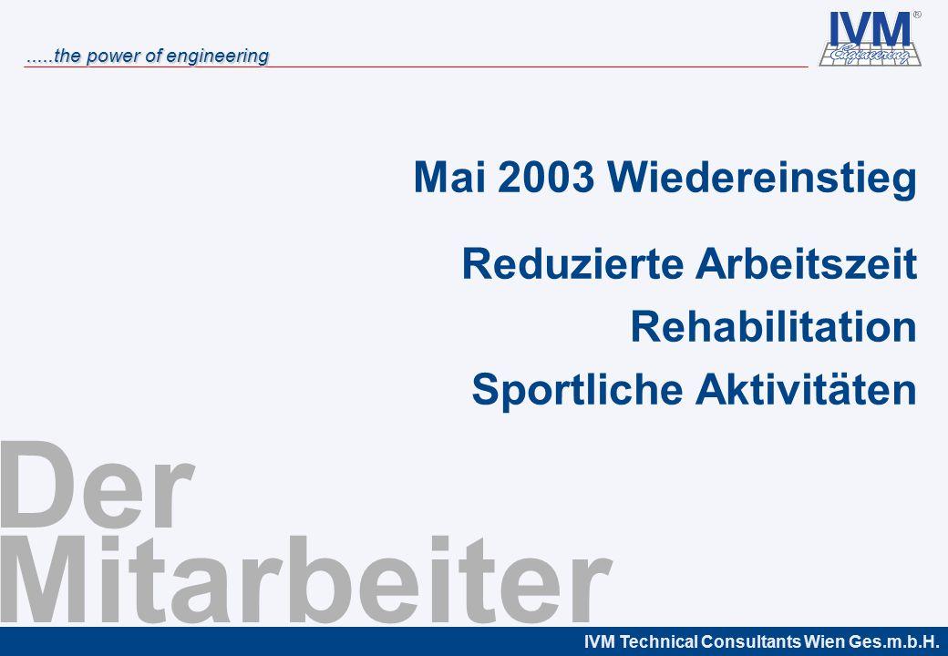 Der Mitarbeiter Mai 2003 Wiedereinstieg