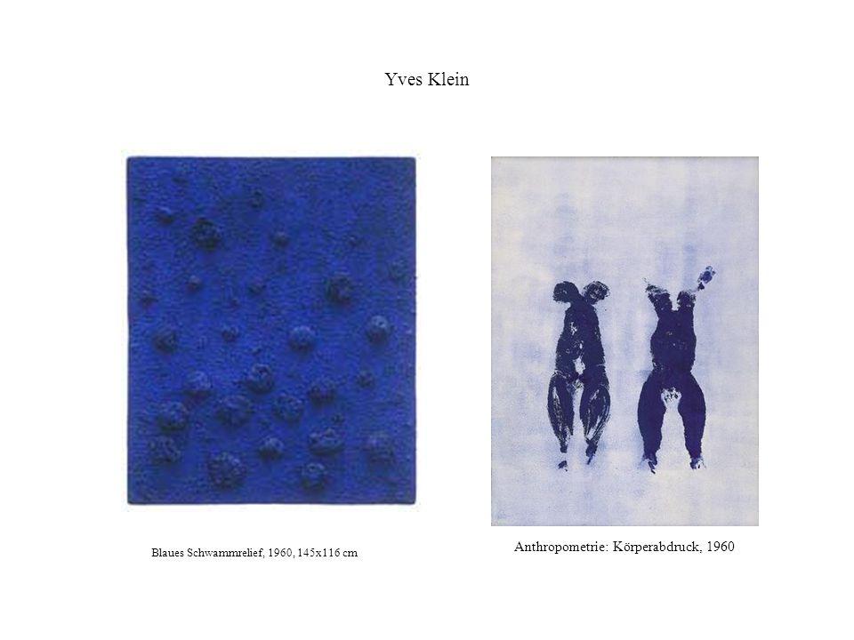 Yves Klein Anthropometrie: Körperabdruck, 1960